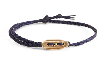 #136 - Men's bracelet Canvas Toggle blue - GOLD - 877 Workshop