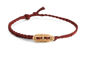 #137 - Men's bracelet Canvas Toggle red - GOLD - 877 Workshop