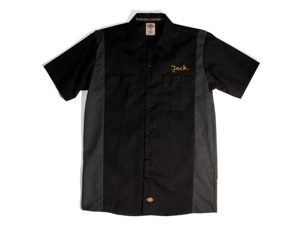 "#105 - Men's bowling shirt with embroidery ""Devils"" – one of one"