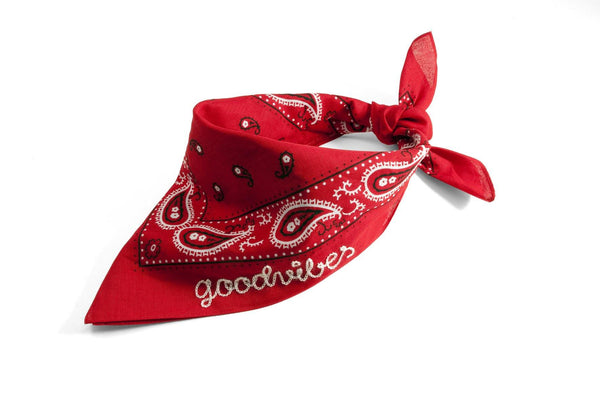 #075 - Custom embroidered bandana