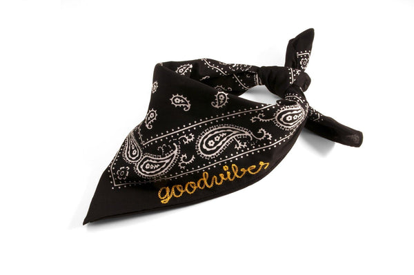 #100 - Custom embroidered bandana