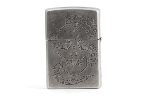 #078 - Windproof lighter Skull & Snake