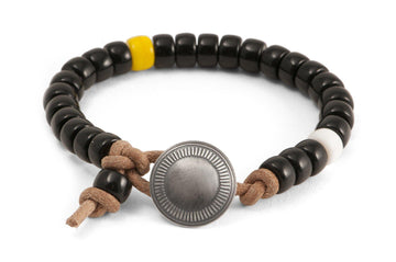 #155 - Men's bracelet beads black - 877 Workshop