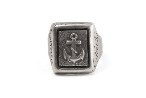 #031 - Signet Ring Navy Hold Fast