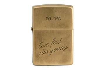 #085 - Windproof lighter live fast die young - 877 Workshop