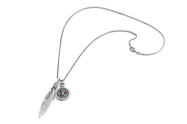 #060 - Necklace Feather and Dreamcatcher