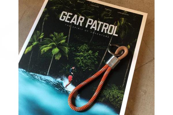 #108 - 877 Workshop × Gear Patrol keychain orange