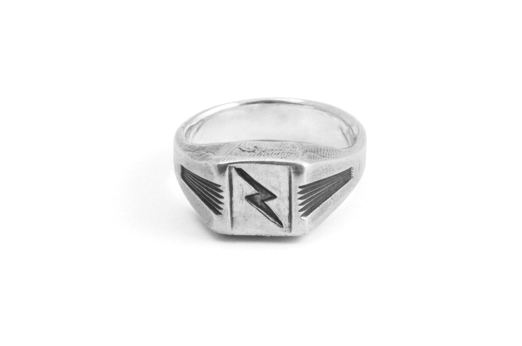 #3 - Signet Ring Lightning Bolt