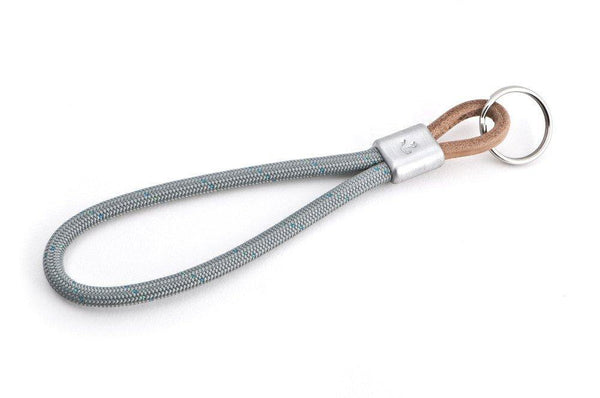 #44 - Keychain anchor sailing rope gray