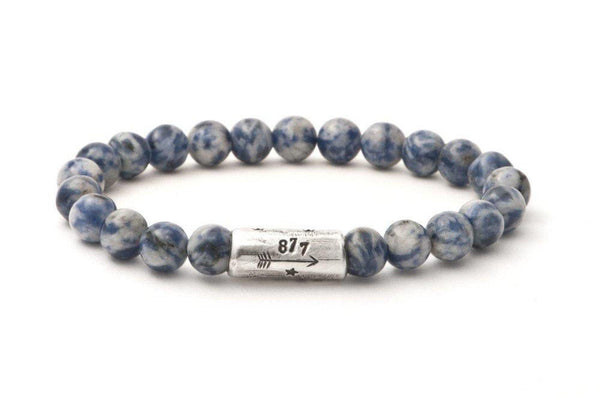 #77 - Men's beaded bracelet Rocks Sodalite blue