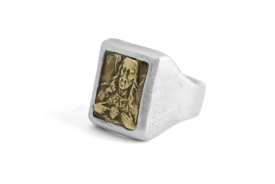 #034 - Signet Ring Sacred Heart of Jesus - 877 Workshop