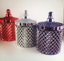 Geo Cut Glassware Silver Jar. Buy 2 & Save.