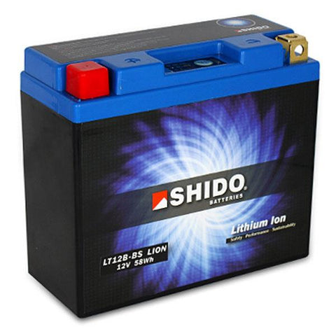 Battery - Shido Lithium Motorcycle Battery - LT12B-BS LION