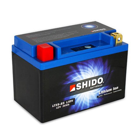 Battery - SHIDO LTX 9BS LION LITHIUM MOTORCYCLE BATTERY