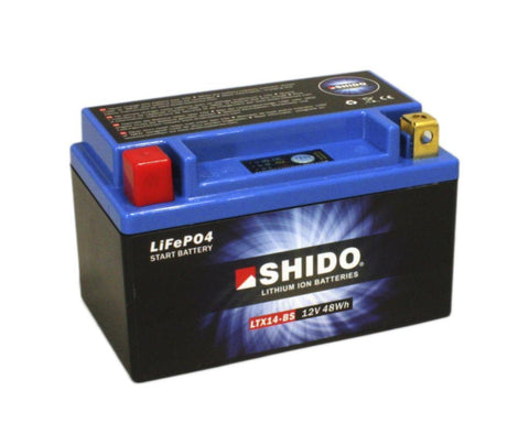 SHIDO LTX14–BS LION LITHIUM MOTORCYCLE BATTERY