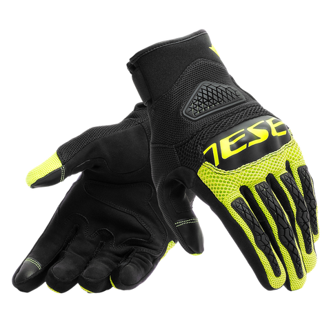 Dainese Bora Gloves (Black/Flou-Yellow)