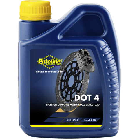 Brake Fluid - Putoline DOT 4 Brake Fluid (500ML)
