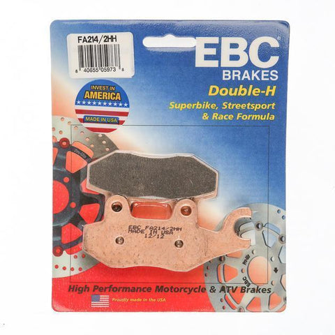 Brake Pads - EBC Rear Double H Sintered Brake Pads For Triumph Thruxton 675 Cc (upto 2015)