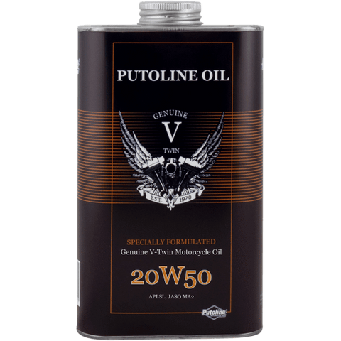 Cleaning Product - Putoline Oil Genuine V-Twin 20W-50 (1000ML)