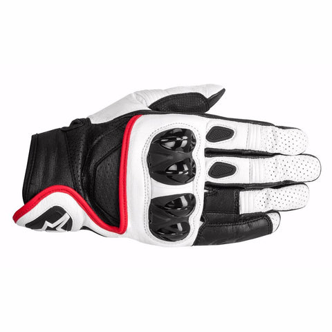 Gloves - Alpinestars Celer Leather Gloves  White-Black-Red