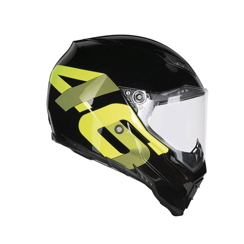 Helmets - AGV AX-8 EVO Naked Top- Identity Helmet (Black/Yellow)