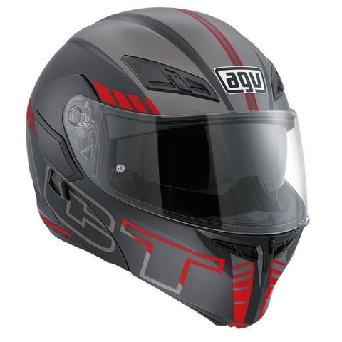 Helmets - AGV Compact ST Multi- Seattle MATT Helmet (Black/White/Red)