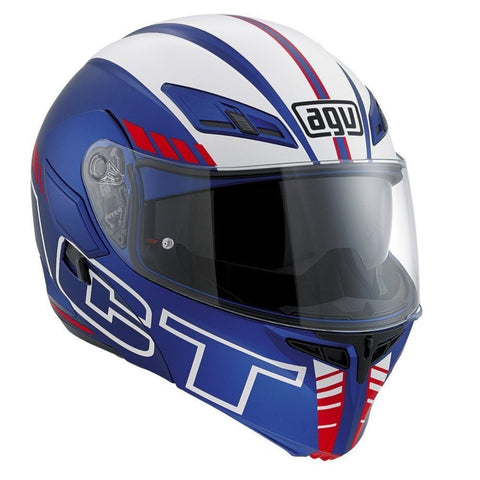 Helmets - AGV Compact ST Multi- Seattle Matt Helmet (Blue/Silver/Red)