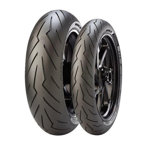 Motorcycle Tyres - Pirelli Diablo Rosso III Tyre's (Sizes Available- 120/70 ZR 17, 180/60 ZR 17, 180/55/ZR17 73W,190/55 ZR 17 & 200/55 ZR 17)
