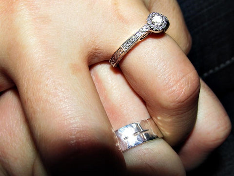 A tungsten or ceramic promise ring for men and women from Steven G Designs