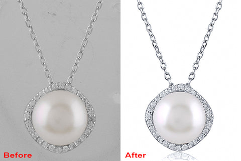 925 Sterling Silver Pendant Necklace with Fresh Water Pearl