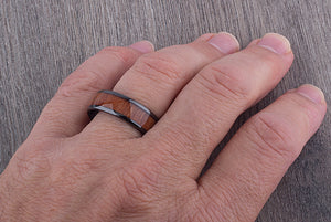Ceramic Men's Wedding Ring 8mm- CER081