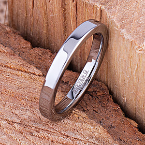 Tungsten Mens or Womens Wedding Band Unisex Engagement Ring 3mm, Promise Ring for Him or Her, Anniversary Gift for Men Women, Tungsten Ring - TCR118