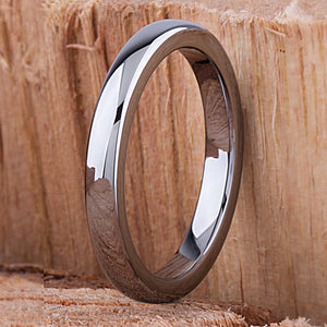 Tungsten Mens or Womens Wedding Band Unisex Engagement Ring 3mm, Promise Ring for Him or Her, Anniversary Gift for Men Women, Tungsten Ring - TCR122