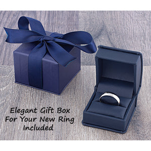 Tungsten Ring with Rose Gold - 8mm Width
