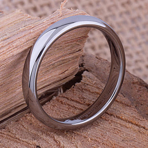 Tungsten Mens or Womens Wedding Band Unisex Engagement Ring 4mm, Promise Ring for Him or Her, Anniversary Gift for Men Women, Tungsten Ring - TCR006