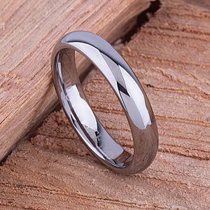 Tungsten Mens Wedding Band or Mens Engagement Band 4.5mm Polished, Womens Tungsten Wedding Band, Anniversary Gift For Husband, Gift For Her - TCR075