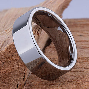 Tungsten Mens Wedding Band or Mens Engagement Ring 9mm Polished, Gift For Boyfriend, Mens Promise Ring, Fathers Day Gift, Mens Tungsten Ring - TCR055