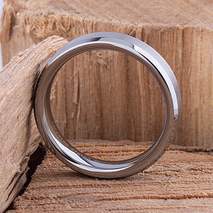 Tungsten Mens Wedding Ring 6mm - TCR005 traditional engagement band with brushed surface Steven G Designs Ltd