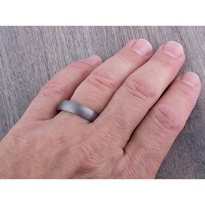 Tungsten Wedding Band 6mm - TCR067 traditional men's wedding or engagement band or promise ring for boyfriend