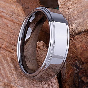 Tungsten Mens Engagement Ring, Mans Wedding Band 8mm Promise Ring for Him, Unique Wedding Band, Mens Anniversary Husband Gift, Tungsten Ring - TCR036
