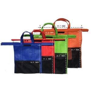 Supermarket Cart - Reusable Grocery Bags - 4 PC