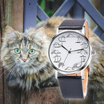 Retro Design Lovely Cartoon Cat Watch