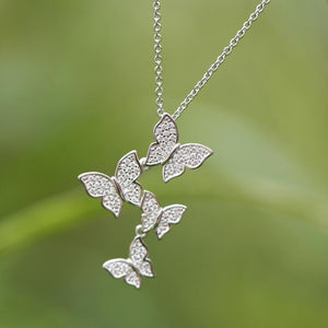 Zircon Butterfly Necklaces