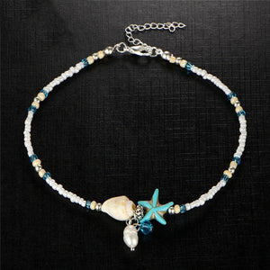 Boho Blue Starfish Anklets For Women 2018
