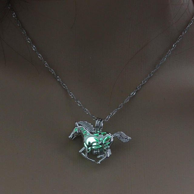 Smart Running Horse Glow Necklace