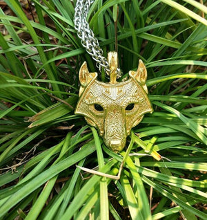 Norse Wolf Head Necklace - Free Shipping!