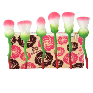 6pcs Rose Flower Powder Make Up Brushes