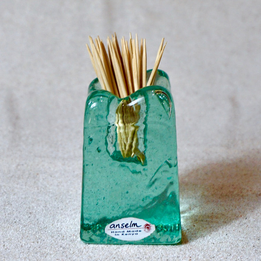 Casted glass - toothpick holder