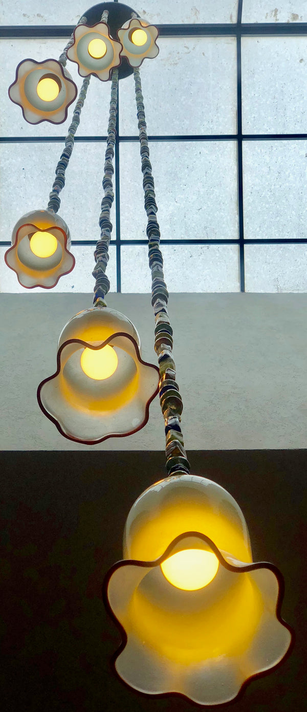 Chandelier 'Floppy Cups' hanging cluster