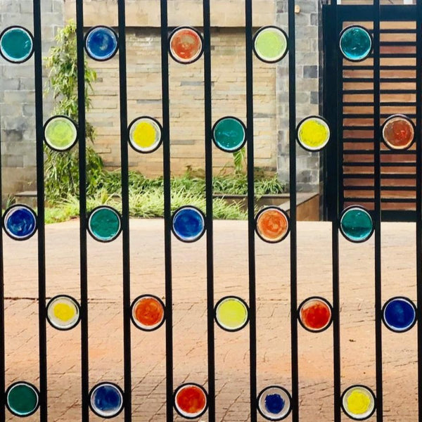 Funky Fencing gate 'Gobstopper' 3.5m x 2m